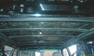Салон авто - звукоизоляция потолка