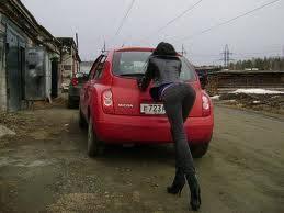 Толкание сломанного авто