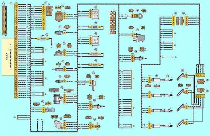 Схема электрооборудования Лада