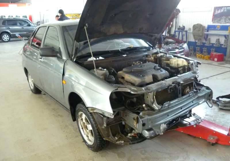 Приора ремонт автомобиля своими руками
